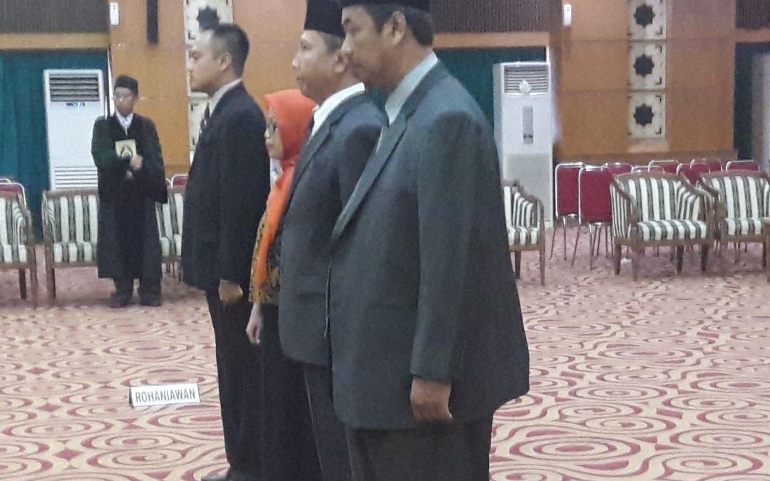 Rektor Lantik Empat Pejabat Baru