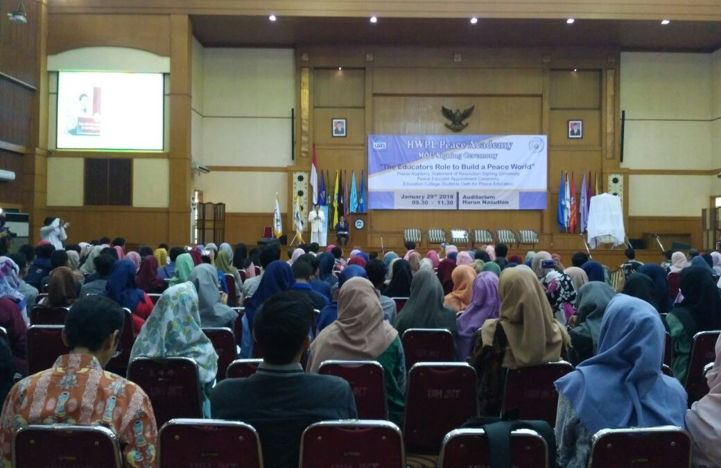 UIN Jakarta – HPWL Sign MOU on Peace Academy