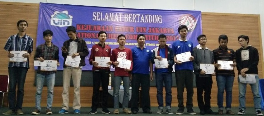Tutup Tahun 2017, UIN Jakarta Gelar National Chess Competition