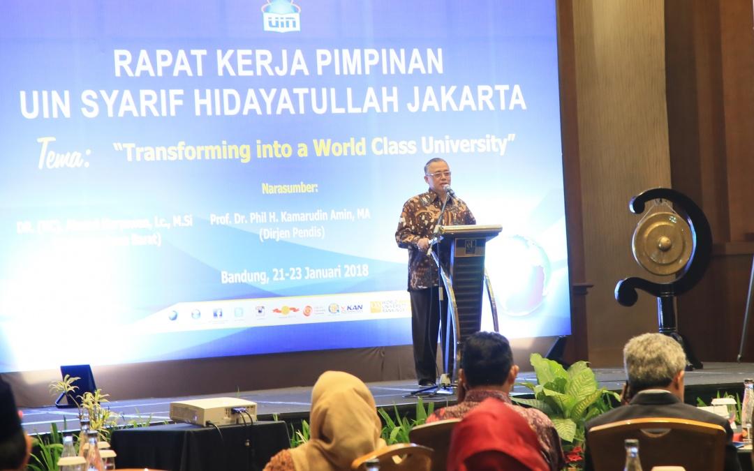 Rektor Tegaskan Komitmen WCU UIN Jakarta