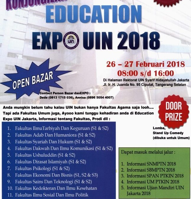Education Expo UIN Jakarta 2018 to be Held