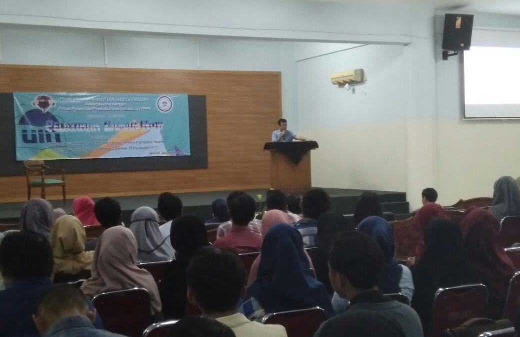 Pekraf UIN Jakarta Socialize Student Expertise Certificate