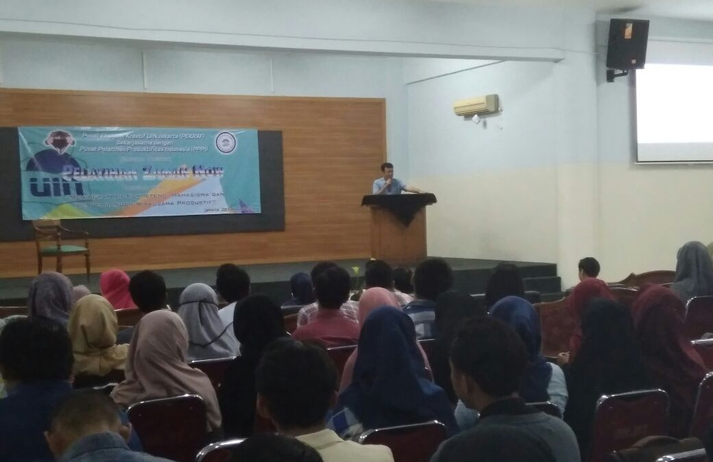 Pekraf UIN Jakarta Sosialisasikan Sertifikat Keahlian Mahasiswa