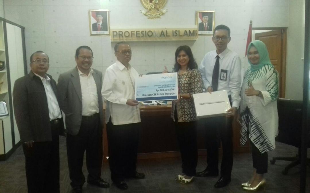 Bank Mandiri Serahkan Bantuan Peralatan Elektronik
