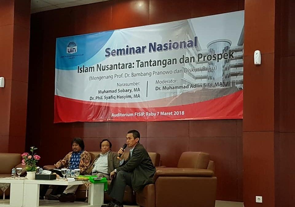 FISIP UIN Jakarta Holds Seminar on Islam Nusantara
