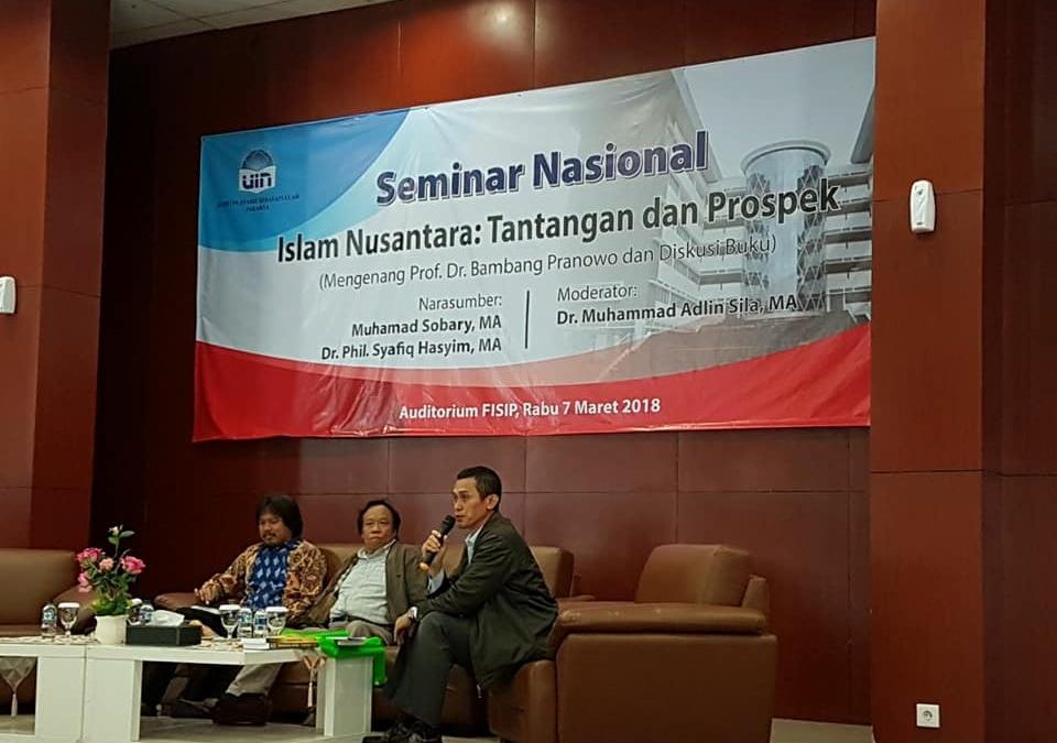Kenang Bambang, FISIP Gelar Seminar Islam Nusantara