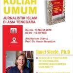 Kuliah Umum Jurnalistik Islam di Asia Tenggara