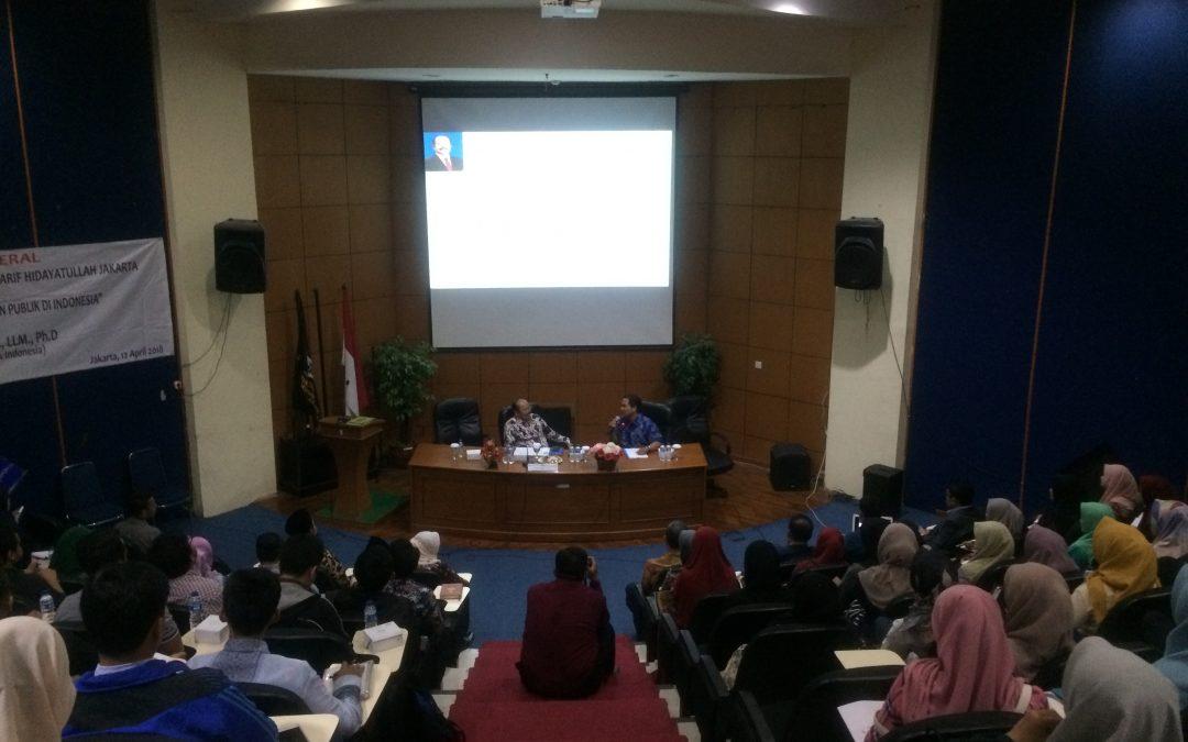 """Studium General FSH """"Pengawasan Terhadap Pelayanan Publik di Indonesia"""
