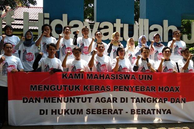 Mahasiswa UIN Jakarta Deklarasi Anti Hoax