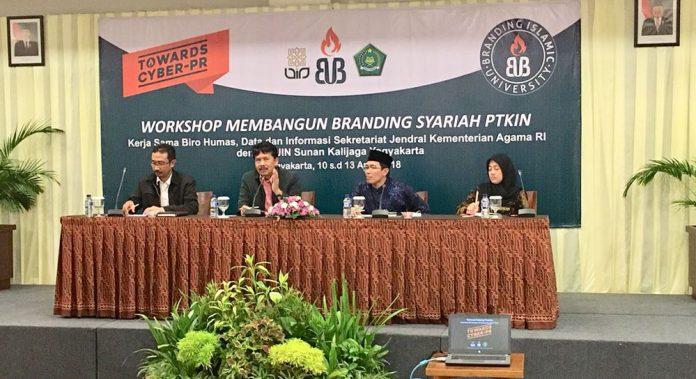 Humas UIN Jakarta Ikuti Workshop Membangun Branding Syariah PTKIN