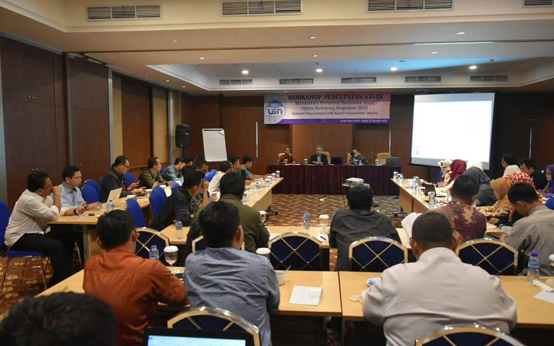 SPs UIN Jakarta Gelar Workshop Percepatan Studi