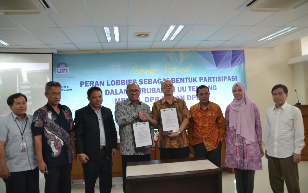 FISIP UIN Jakarta-Badan Keahlian DPR RI Teken MoU