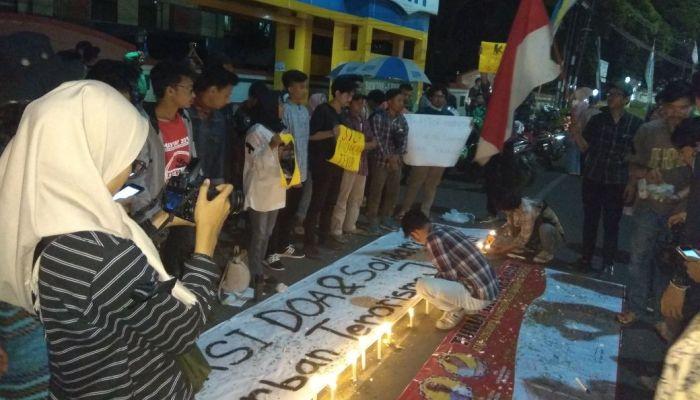 Marak Aksi Teror, Mahasiswa UIN Lakukan Doa Bersama
