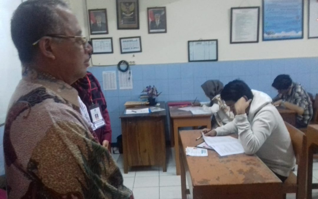 Rektor Dede Rosyada Tinjau Lokasi Ujian