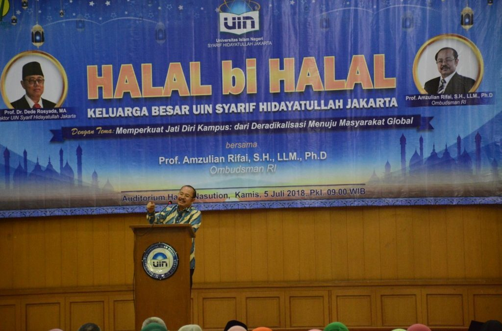 Indonesia's Ombudsman Chairman Deliver a Speech at UIN Jakarta