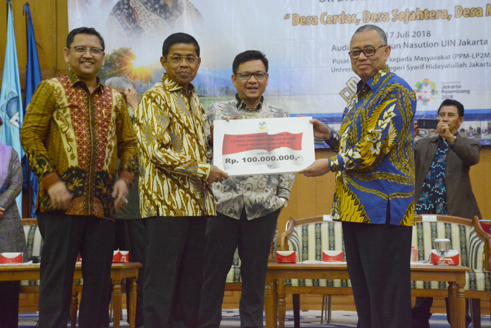 Kemensos Sumbang UIN Jakarta Rp 100 Juta