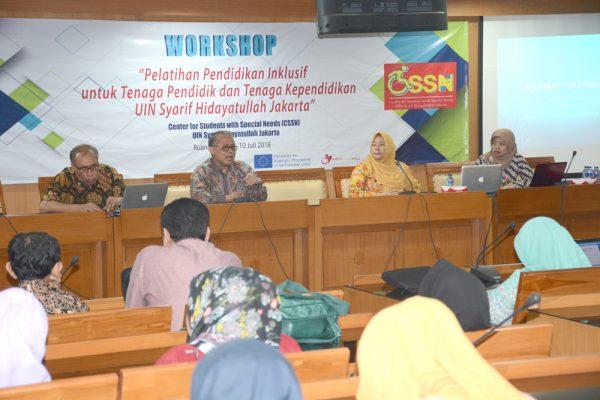 CSSN UIN Jakarta Gelar Pelatihan Inklusif Tenaga Pendidik dan Kependidikan
