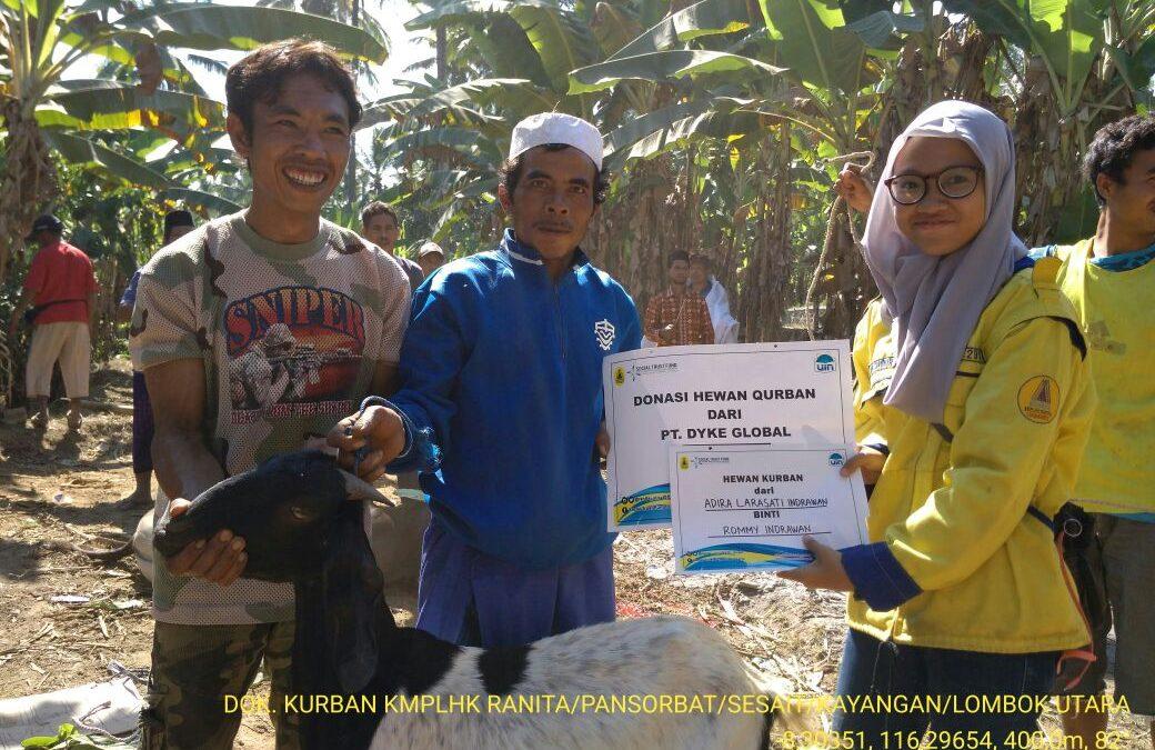 KMPLHK Ranita dan STF UIN Jakarta Gelar Kurban untuk Lombok