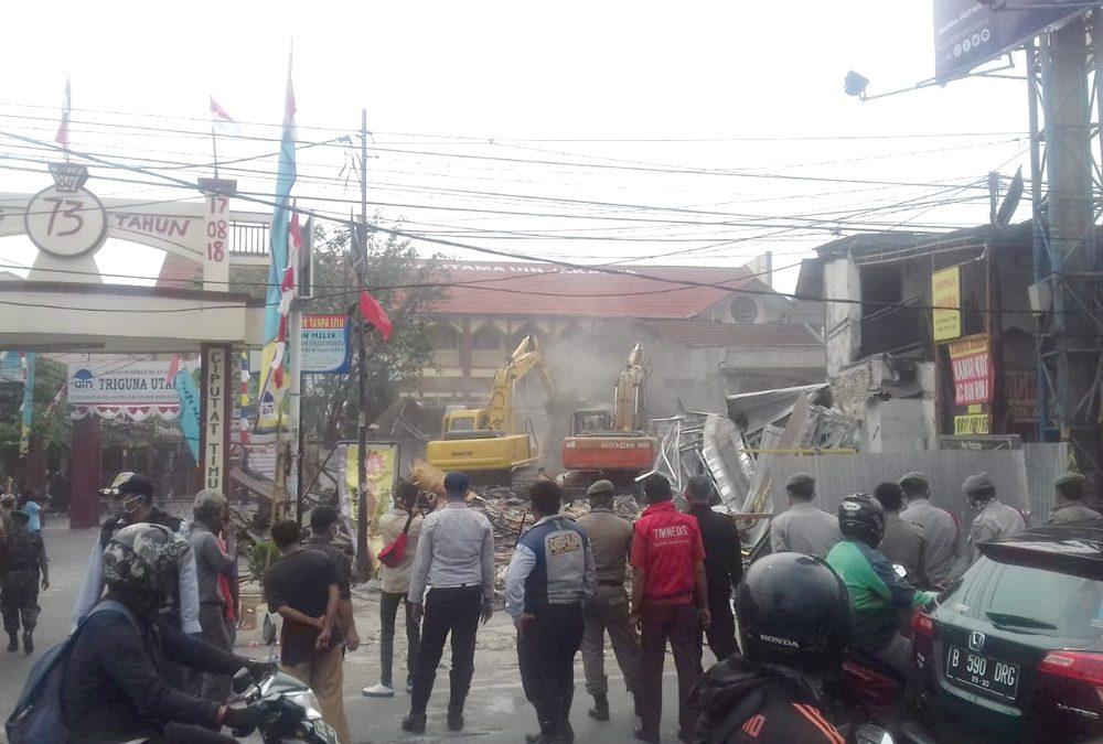 UIN Jakarta Berhasil Kosongkan Lahan di Jalan Juanda
