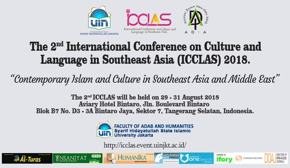 FAH UIN Jakarta-ADIA Will Host ICCLAS 2018