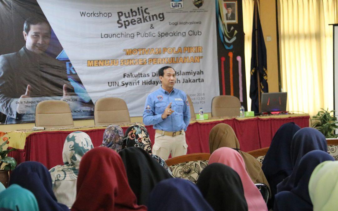 FDI Gelar Public Speaking Motivasi Pola Pikir Menuju Sukses Perkuliahan