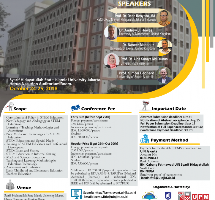 FITK UIN Jakarta to Hold and Organize International Conference
