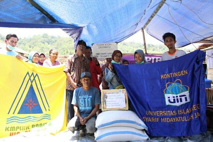Ranita UIN Jakarta Salurkan Bantuan Logistik untuk Korban Gempa