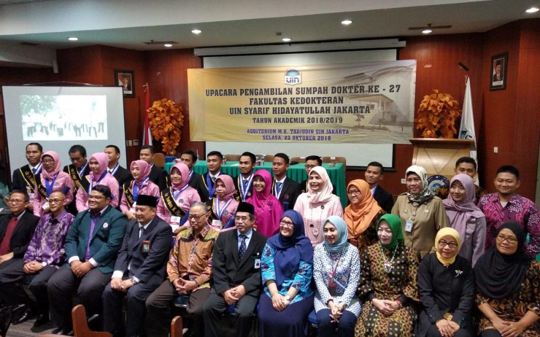 FK UIN Jakarta Holds the 27th Hippocratic Oath