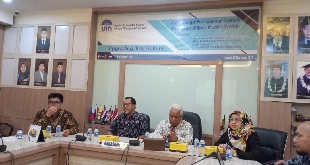 FSH UIN Jakarta Holds Legal Studies Upgrading