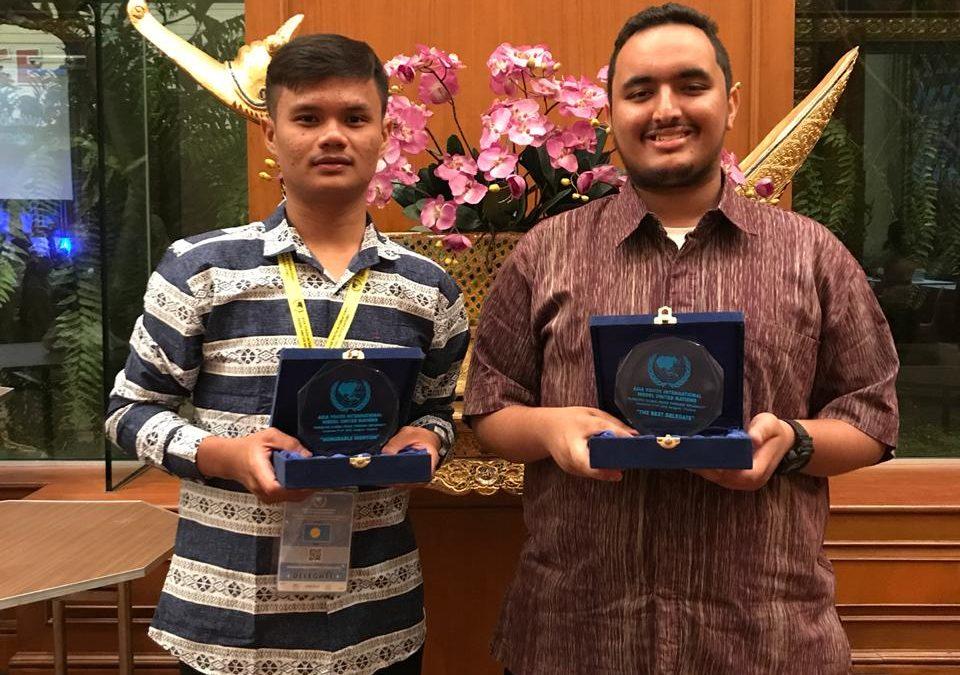 Mahasiswa FAH UIN Jakarta Raih The Best Delegate MUN
