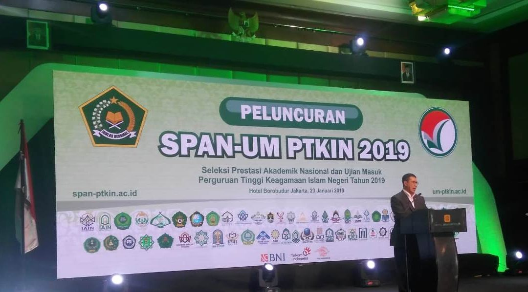 Rector of UIN Jakarta Attend the Launch of SPAN-UM PTKIN 2019