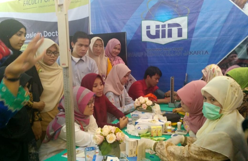 FK Offers Free Health Checks on UIN Jakarta Expo