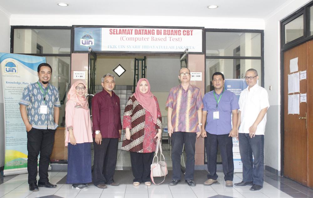 Rektor Tinjau UTBK di Kampus UIN Jakarta