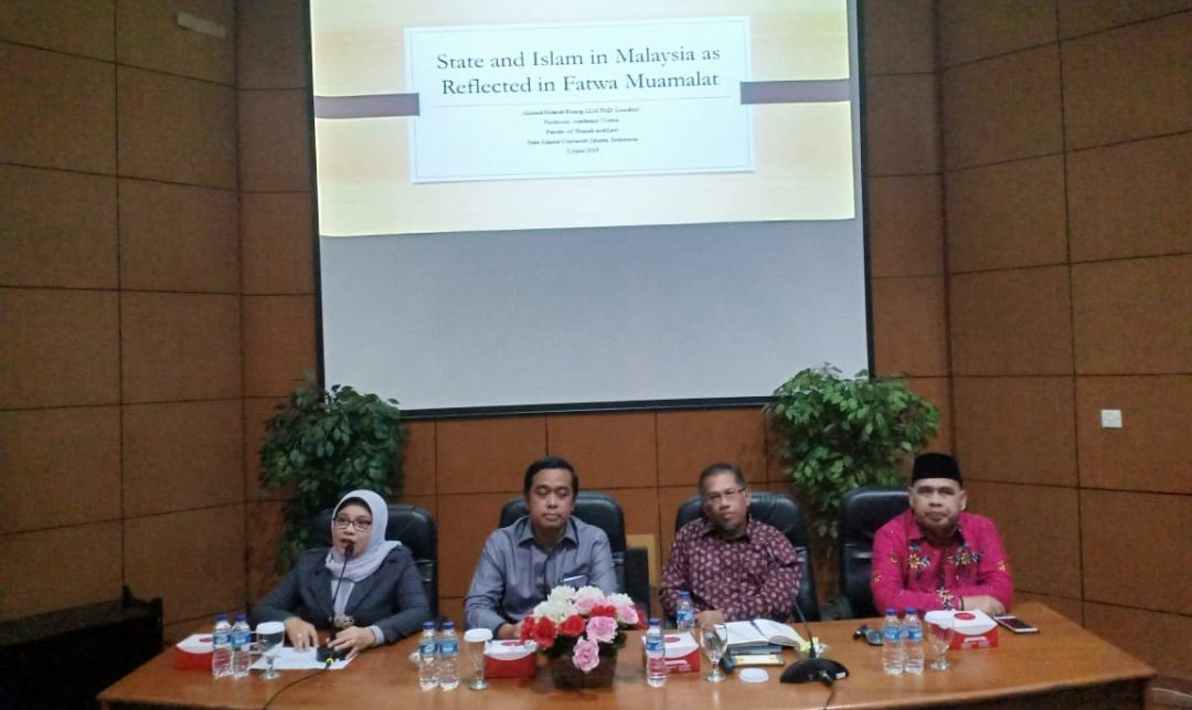 FSH UIN Jakarta Gelar Public Lecture Tentang Fatwa Muamalah di Malaysia