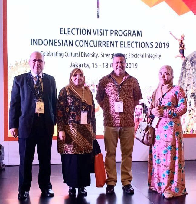 "Jelang Pemilu 2019, Rektor Amany Lubis Hadiri ""Election Visit Program 2019"""