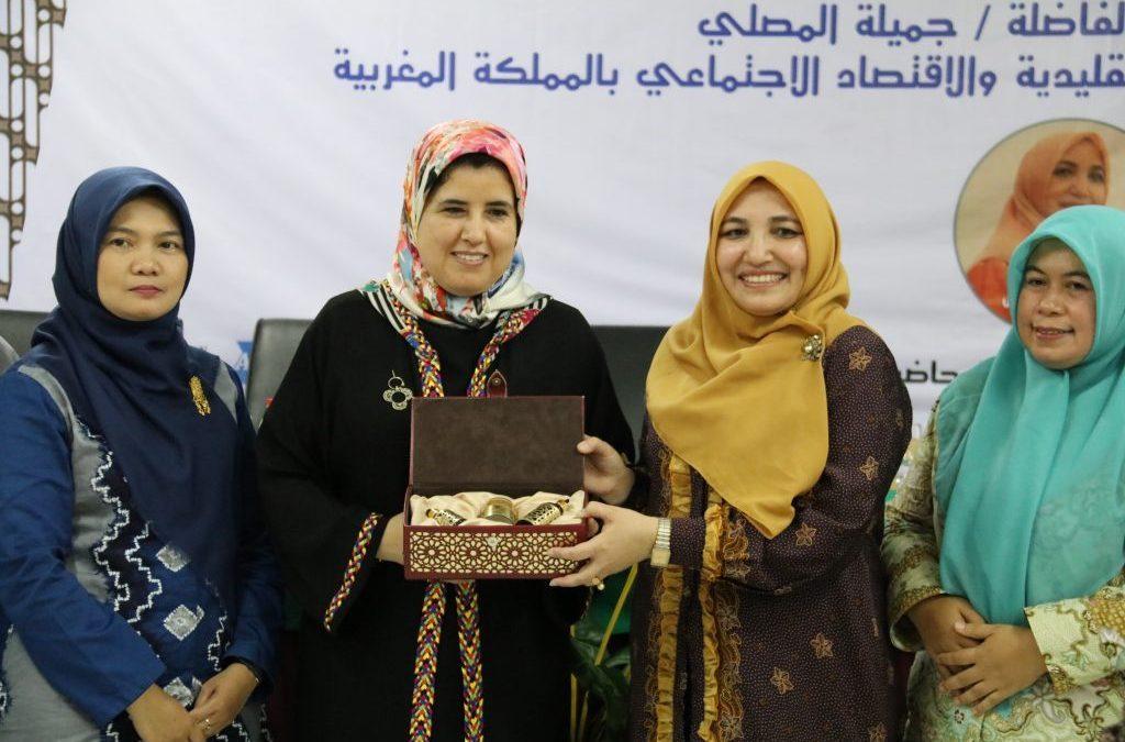 وزيرة الحرف اليدوية والاقتصاد الاجتماعي للحكومة المغربية تزور UIN جاكرتا