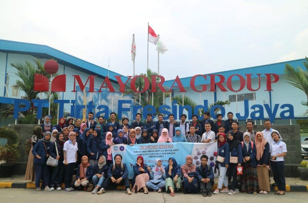 HIMKA FST UIN Jakarta Lakukan Kunjungan Industri ke Tirta Fresindo Jaya