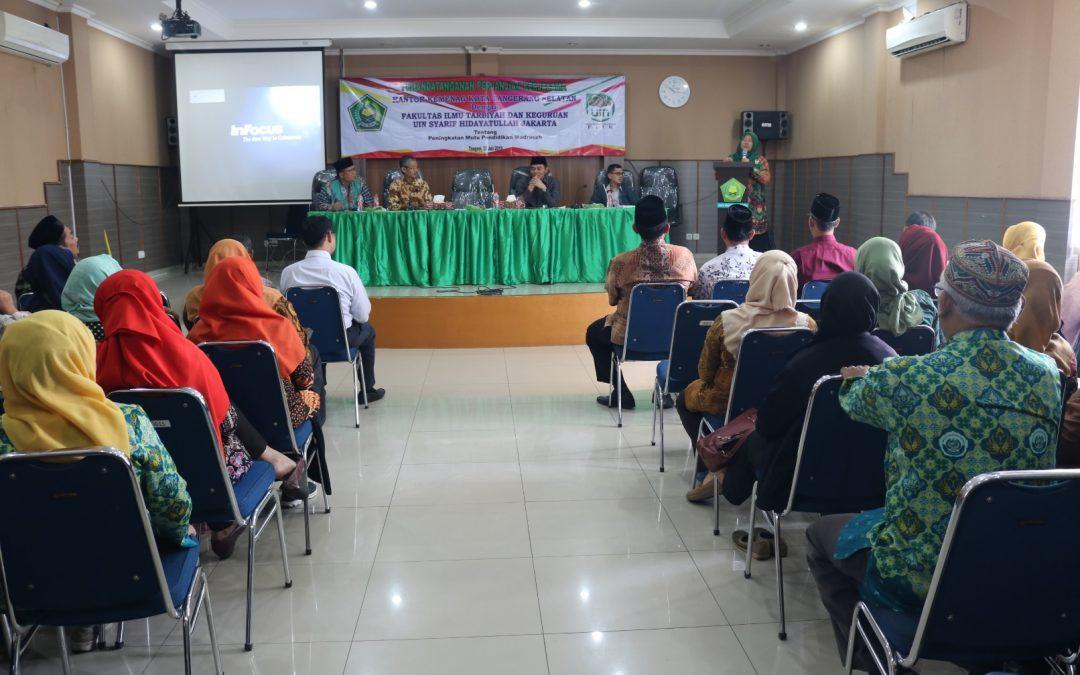 Tingkatkan Mutu Madrasah, Kemenag Tangsel Teken MoU dengan FITK UIN Jakarta