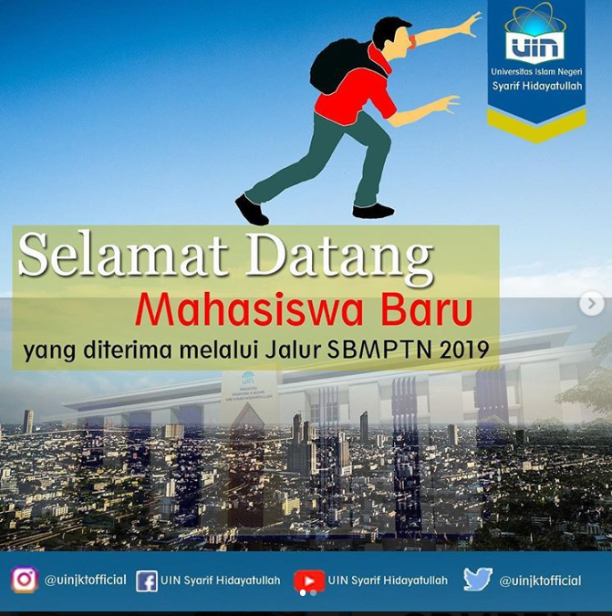 UIN Jakarta Meluluskan 1.276 Jalur SBMPTN