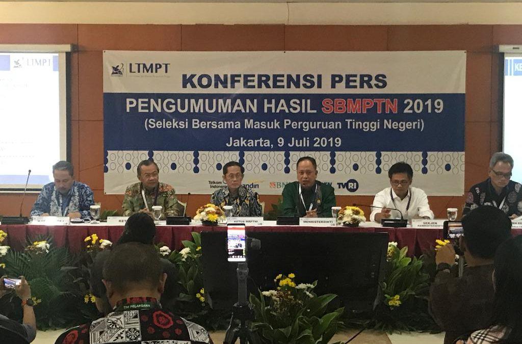 168.742 Peserta Diterima di 85 PTN se-Indonesia Melalui Jalur SBMPTN