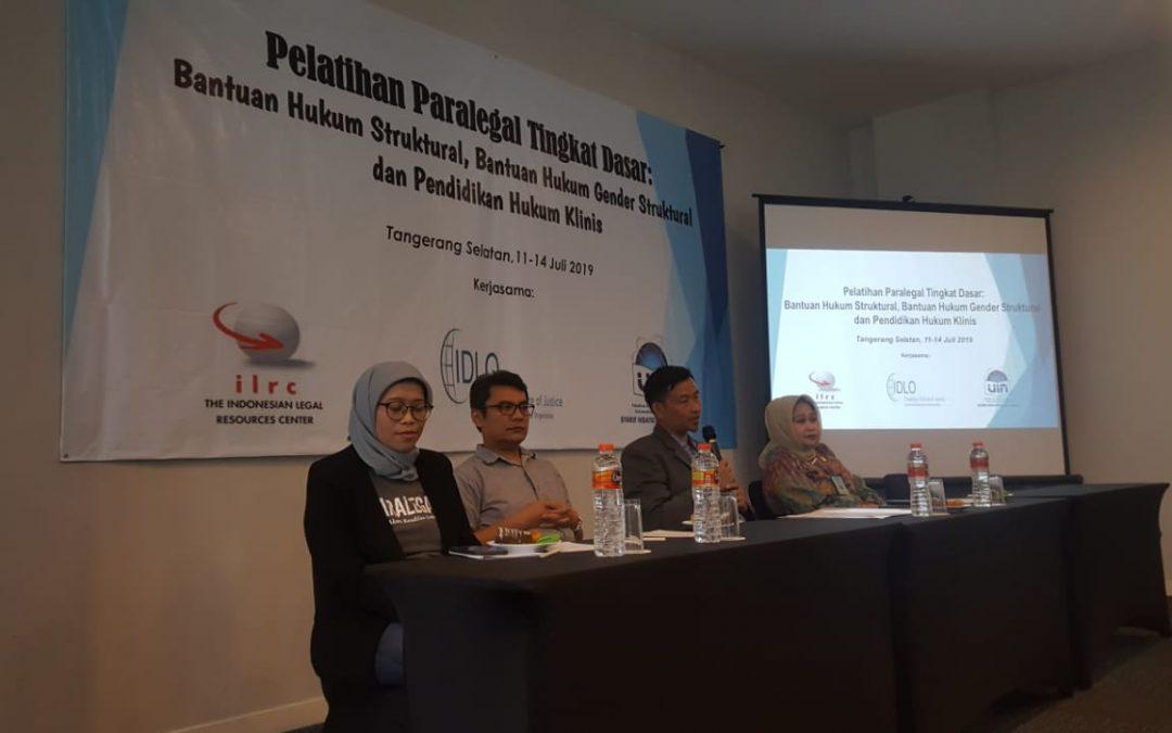 FSH UIN Jakarta Gandeng ILRC dan IDLO, Gelar Pelatihan Paralegal