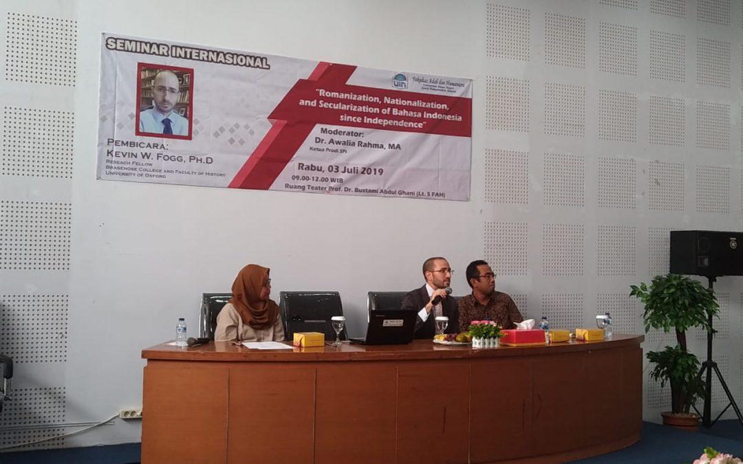 FAH UIN Jakarta mengadakan seminar internasional