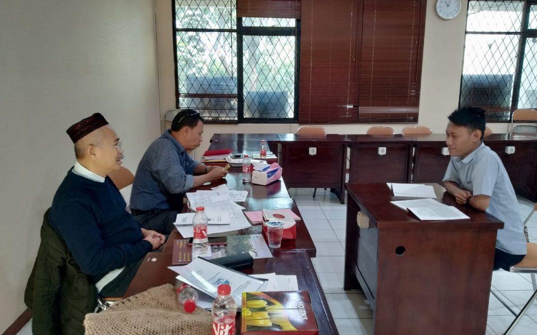 Calon Mahasiswa Baru SPs UIN Jakarta Jalani Tes Lisan