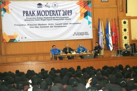 Din Syamsuddin Beri Materi Pada PBAK UIN Jakarta 2019