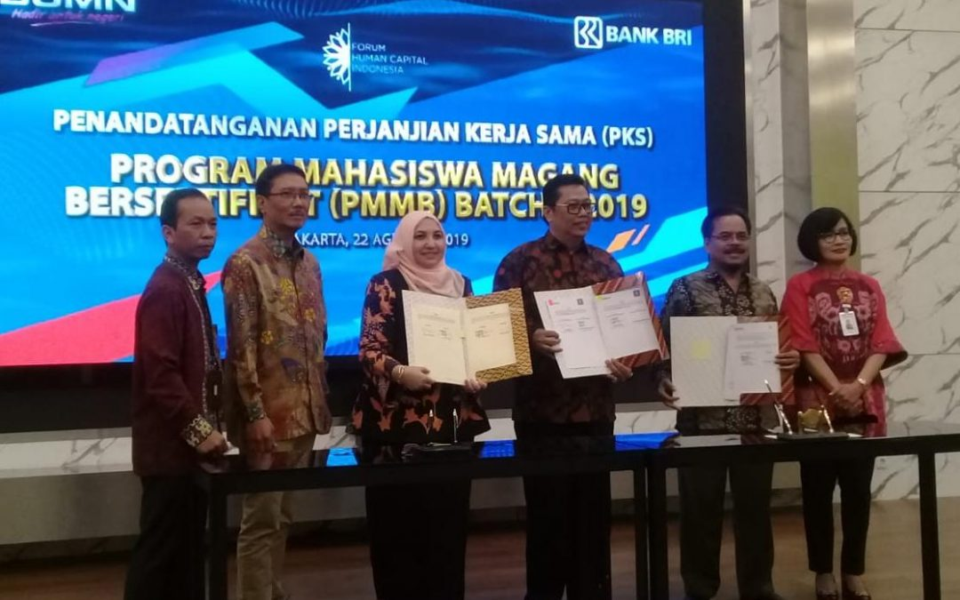 UIN Jakarta-BRI Tandatangani Kerja Sama Program Pemagangan