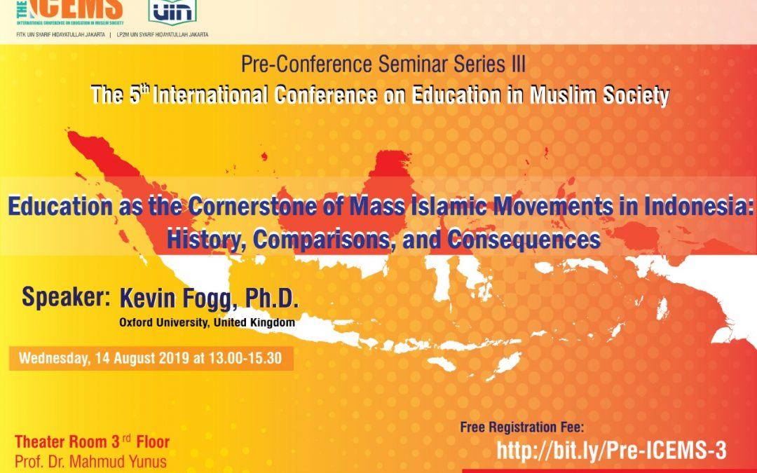 The 5th ICEMS Will Hold Pre-Conference Seminar Series 3