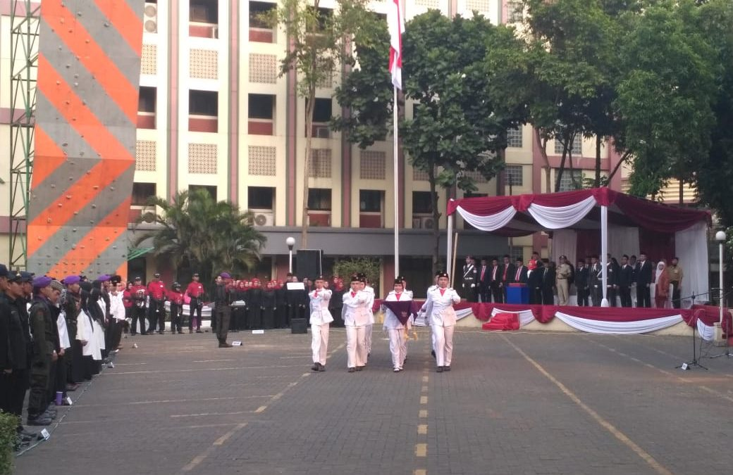 UIN Jakarta holds the 74th Indonesian independence day ceremony