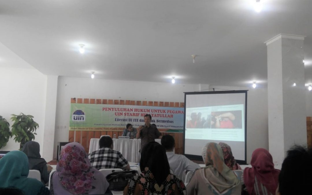 PLHBH UIN Jakarta holds legal counseling on Electronic Information and Transactions (ITE) law