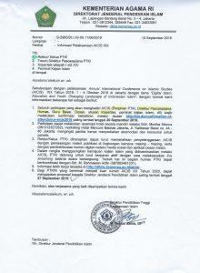 Informasi Pelaksanaan AICIS XIX