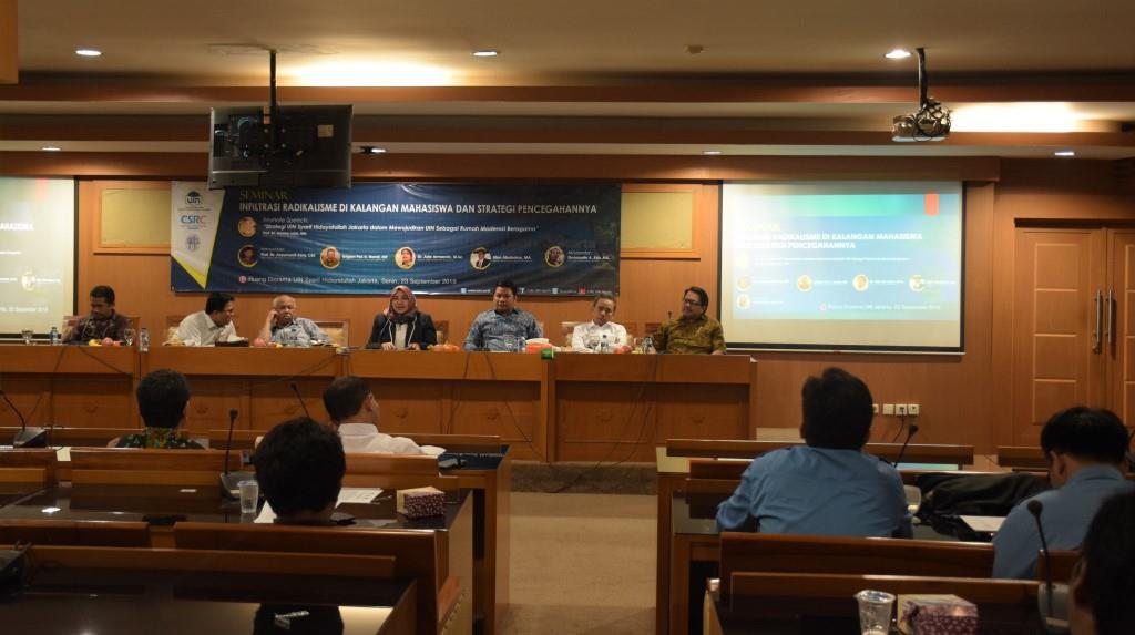 CSRC UIN Jakarta Gelar Seminar Tentang Radikalisme dan Pencegahannya